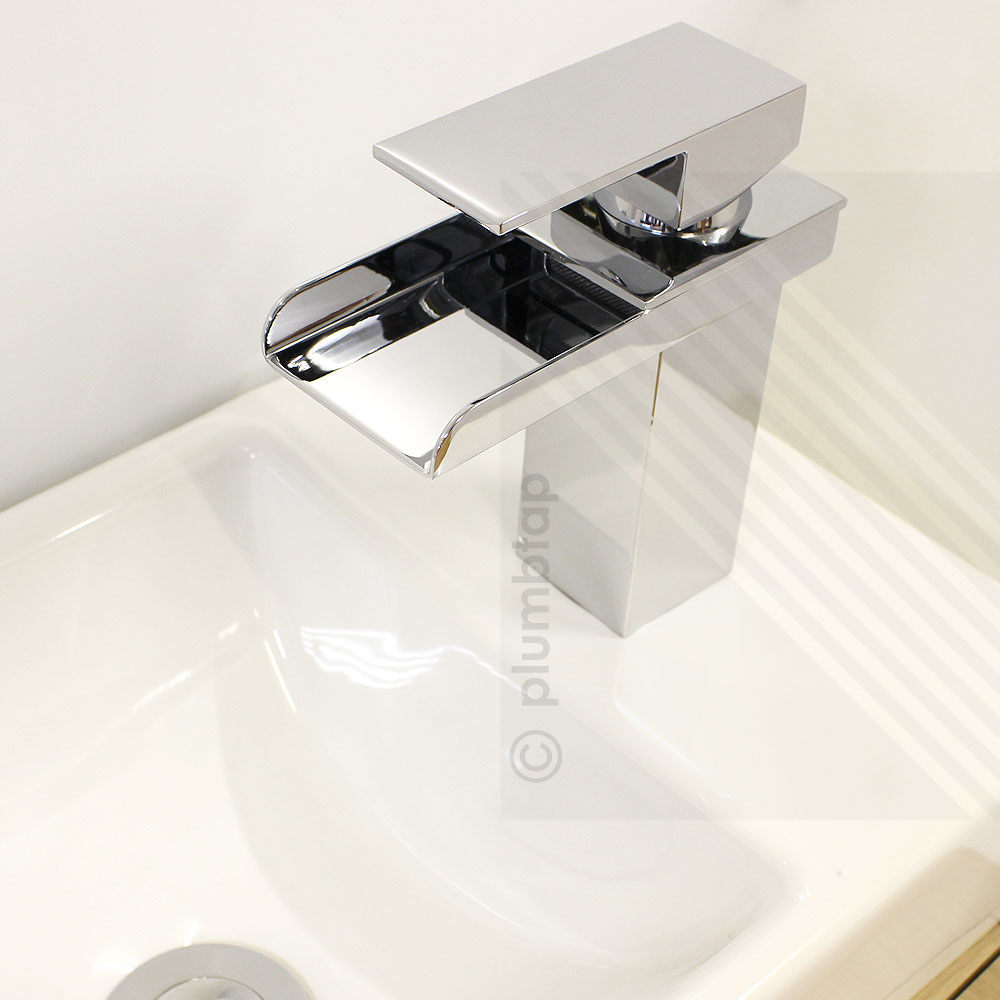 Designer Luxury Waterfall Bathroom Basin Mixer Tap in Chrome